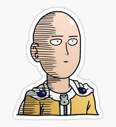 Drawing Man One Punch Man / OPM - Saitama Ok (Col) Sticker - Shop from 1000 unique Naruto Stickers on Redbubble. Perfect to stick on lapto. Meme Stickers, Tumblr Stickers, Kawaii Stickers, Cool Stickers, Printable Stickers, Laptop Stickers, Saitama One Punch Man, One Punch Man Anime, One Punch Man Funny