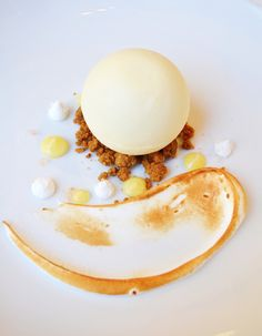 Limone - Lemon Budino with Toasted Meringue, Graham Cracker Crumble and Finger Lime