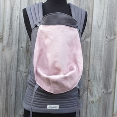 Custom reversible linen half buckle in charcoal and antique pink. This carrier has regular padded straps, a removable hoodie hood, leg padding and matching suck pads Charcoal, Legs, Hoodies, Antiques, Pink, Fashion, Antiquities, Moda, Rose