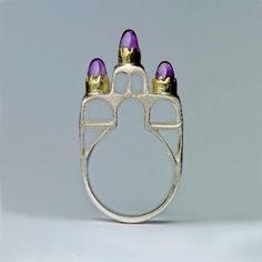 Margot diCono, Juliet's Dream, sterling silver, 22-karat gold, amethysts