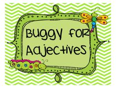 Buggy for Second Grade: Adjective Freebie