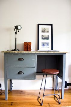 Vintage Industrial Rustic Desk by Atelier51 on Etsy, $525.00