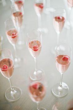 rose' + raspberries
