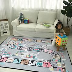 Childrens Blanket Bedroom Toy Game City Traffic Road Lane Baby Crawling Mat Animal Alphabet Carpet Educational Soft Bubble Pad Toys & Hobbies