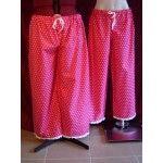 Long Pajama Pant Hot Pink and White Spot