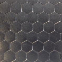 Mosaïque pâte de verre hexagone noir mat plaque - Achat de mosaïque salle de bain hexagonale