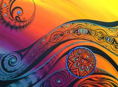 Tribal Flow Art Print by Reina Cottier. All prints are professionally printed, packaged, and shipped within 3 - 4 business days. Choose from multiple sizes and hundreds of frame and mat options.