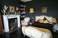 The Marmite house: bedroom