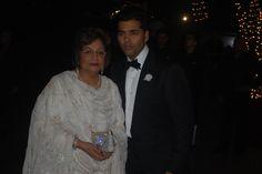 Karan and Hiroo Johar :)