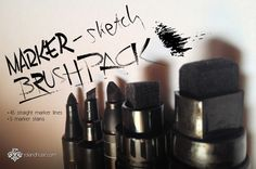 Marker-Sketch Brushpack by Runes & Fonts  on Creative Market: http://crtv.mk/c05FT