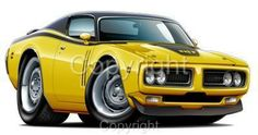 Cartoon Muscle Cars   ... about 1971 1972 Dodge Charger R/T Muscle Car Cartoon Tshirt RT #9496