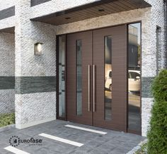 This outdoor fixture offers a simple contemporary form perfect for stylish present-day spaces. Modern Entrance Door, Modern Door, House Entrance, Entrance Doors, Entrance Lighting, Contemporary Doors, Exterior Lighting, Led Outdoor Wall Lights, Outdoor Walls