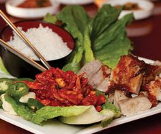 he Yum of the Month for October is the bossam lettuce wraps at Jin's Korean Restaurant