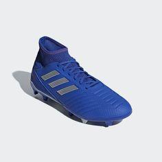 Predator Firm Ground Cleats B Predator Football Boots, Adidas Football, Predator Adidas, Baskets, Soccer Cleats, Blue Adidas, Blue And Silver, Adidas Sneakers, Hair Job