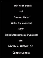 The universe is the polarity of consciousness. One pole of which is the universal mind matrix. The other and opposite pole, is the sum of individual life forms. The universal mind therefore is the ultimate power and energy side of 'you'.