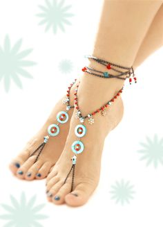 Barefoot Sandals. Mother Of Pearl bAREFOOT SANDALS. Gift For Her barefoot sandals anklet barefoot sandal gypsy bellydance Slave anklet Boho something blue mother of pearl Turquoise bride Beach Wedding beach sandal hippie 32.00 USD #goriani
