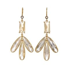 Cathy Waterman Citrine and White Topaz Dragonfly Earrings ❤ liked on Polyvore featuring jewelry, earrings, cathy waterman earrings, white topaz jewelry, citrine earrings, dragonfly earrings and cathy waterman jewelry