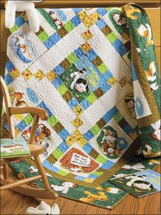 Free Baby Quilt Patterns & Designs for Kids - A favorite children's book on fabric makes bedtime easy. This e-pattern was originally published in the December 2009 issue of Quilter's World magazine. Size: x Skill Level: Beginner Free Baby Quilt Patterns, Beginner Quilt Patterns, Beginner Quilting, Quilting Projects, Quilting Designs, Sewing Projects, Quilting Patterns, Quilting Ideas, Pokey Little Puppy