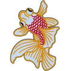 Goldfish Koi Fish Lucky Japanese Ornamental Biker Tattoo Iron on Patch #0503