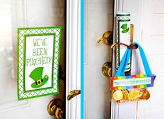 PINCHED {Free Printable Kit}Time to get PINCHED!It's a St. Patrick's Day version of getting Booed-Download the free poster & instructions as well as the treat bag toppers below!