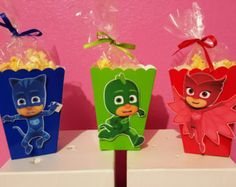 PJ Masks Snack Boxes Set of 10 by YourPartyShoppe on Etsy
