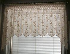 Crochet Curtain Pattern, Crochet Curtains, Lace Curtains, Crochet Patterns, Filet Crochet, Thread Crochet, Crochet Kitchen, Crochet Home, Valance Patterns