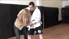 Hip throw. She's aggressive, look at the guy's face!!