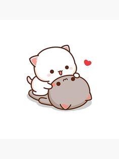 Cute Anime Cat, Cute Bunny Cartoon, Cute Cartoon Pictures, Cute Love Pictures, Cute Love Gif, Cute Love Cartoons, Cute Cat Gif, Easy Doodles Drawings, Cute Bear Drawings