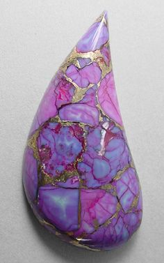 Mohave Purple Turquoise - purple turquoise is treated to achieve it's color. It is not a naturally occurring color!