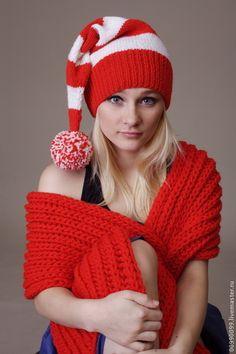 Колпачок Санта - в полоску,колпачок,колпак,спортивная шапка,спорт,спортивный стиль