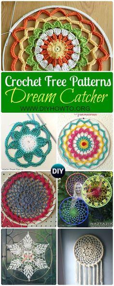 Crochet DreamCatcher & SunCatcher Free Patterns: Creative Ways to Crochet rounds and mandalas.  via @diyhowto