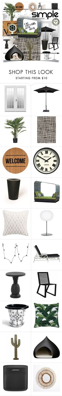 """""""Exterior"""" by alrdesign ❤ liked on Polyvore featuring interior, interiors, interior design, home, home decor, interior decorating, Galtech, Candice Olson, Bloomingville and Newgate"""