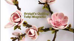 Bridgit's Quilling Tulip-Magnolia in 3D optic (Tutorial)