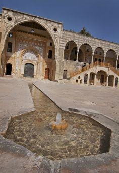 fountain in Beiteddine Palace, Lebanon