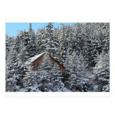 Christmas house in the winter forest postcard - Xmascards ChristmasEve Christmas Eve Christmas merry xmas family holy kids gifts holidays Santa cards