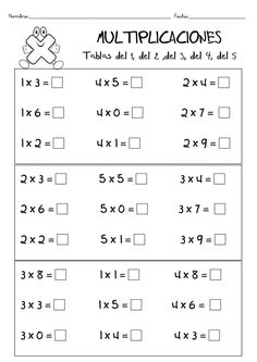 Resultado De Imagen Para Tablas De Sarhua Sacsamarca   Flowers HD ... Free Printable Multiplication Worksheets, Money Worksheets, Teaching Multiplication, Multiplication Tables, Grammar Posters, Phonics Lessons, Math Lesson Plans, Primary Maths, Learning Time