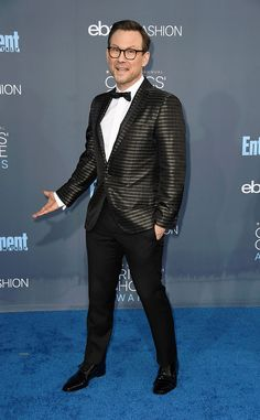 Christian Slater from 22nd Critics' Choice Awards Red Carpet Arrivals  Striking a pose, the Lion Guard star looked dapper ina Salvatore Ferragamo suit.