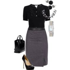 Add a grey or black blazer and you'll be ready for that interview! ................................ Comment by WLS (Jan, 2015)