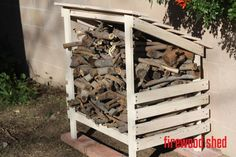 firewood storage hutch shed easy free plans covered wood stack ANA-WHITE.com