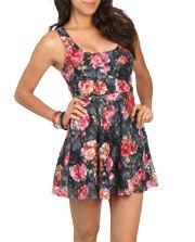 Floral Lace Swing Dress