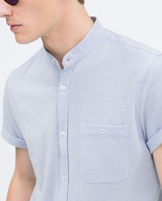 ZARA - MAN - MAO COLLAR SHIRT                                                                                                                                                                                 Más