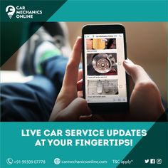 👀 Easier than ever! Now you can keep tabs on your car service status📲 and experience hassle-free car service 🚘👨🏻‍🔧 . Save your time & money by choosing @carmechanicsonline . 🌐 carmechanicsonline.com 📞 +91 9930907778 . #carservice #carrepair #liveupdates #carmechanic #Mumbai