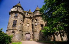 Falkland Palace in Falkland, Fife, Scotland, is a former royal palace of the Scottish Kings. Today it is in the care of the National Trust for Scotland, and serves as a tourist attraction. Scotland Castles, Scotland Uk, Scottish Castles, England And Scotland, Highlands, Outlander Locations, Architecture Design, Royal Residence, European Vacation