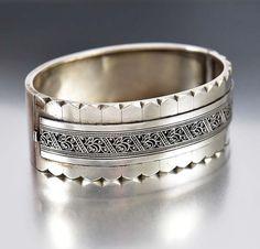 Victorian Bracelet Sterling Silver Cuff Bracelet by boylerpf