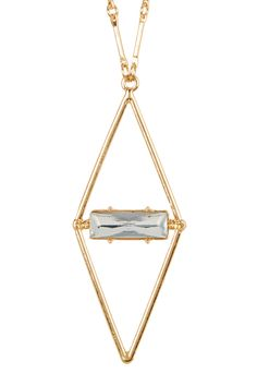 Diamond Shape Stone Pendant Necklace by Stephan & Co on Arrow Necklace, Pendant Necklace, Stone Pendants, Diamond Shapes, Nordstrom Rack, Boards, Jewelry, Products, Planks