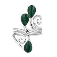 Wonderful Green Malachite Sterling Silver Overlay 4 Grams Stud//Earring 10 mm