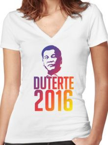 duterte Women's Fitted V-Neck T-Shirt V Neck T Shirt, Shirt Designs, Mens Fashion, Fitness, Shirts, Shopping, Things To Sell, Tops, Style