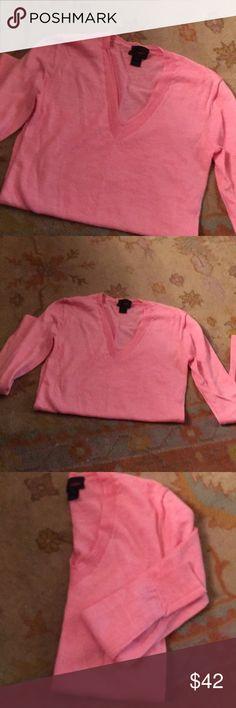 J.crew v neck cashmere J.crew cashmere pink v neck J. Crew Sweaters V-Necks