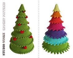 Crochet Christmas tree 3 different holiday por StudioNyske en Etsy
