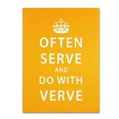 Often Serve by Megan Romo Textual Art on Wrapped Canvas